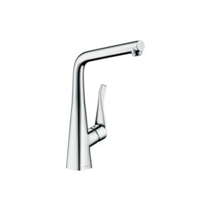 Metris Single lever kitchen mixer 320 for installation in front of a window
