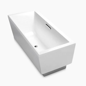 Evok Rectangular Freestanding Acrylic Bath