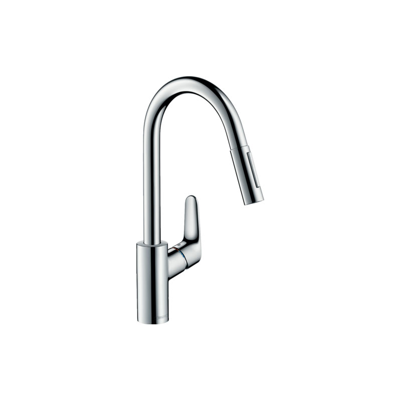 Focus Single-lever Kitchen Mixer 240 with Pull-out Spray