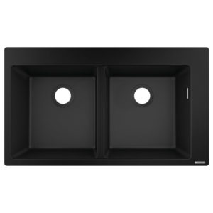 HG Built-in sink 370 (black)
