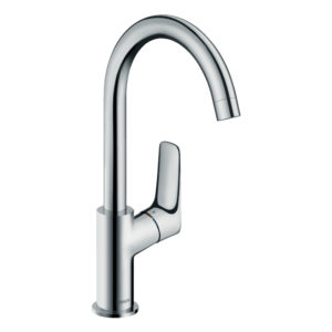 Logis Single lever basin mixer 210 with swivel spout and pop-up waste set