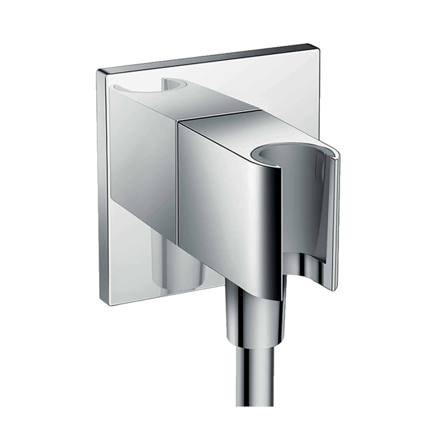 FixFit Wall-outlet Square with Shower Holder