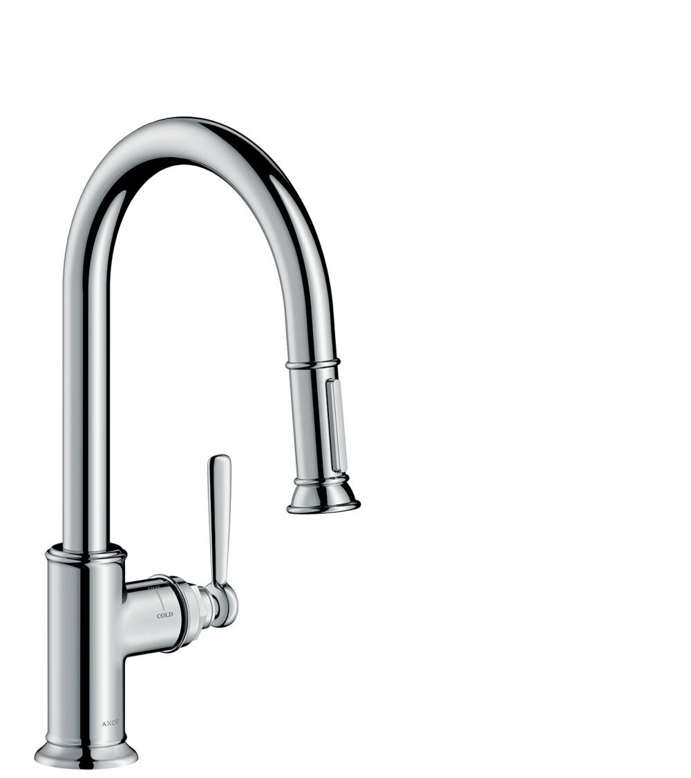 AXOR Montreux Single lever kitchen mixer 180 with pull-out spray
