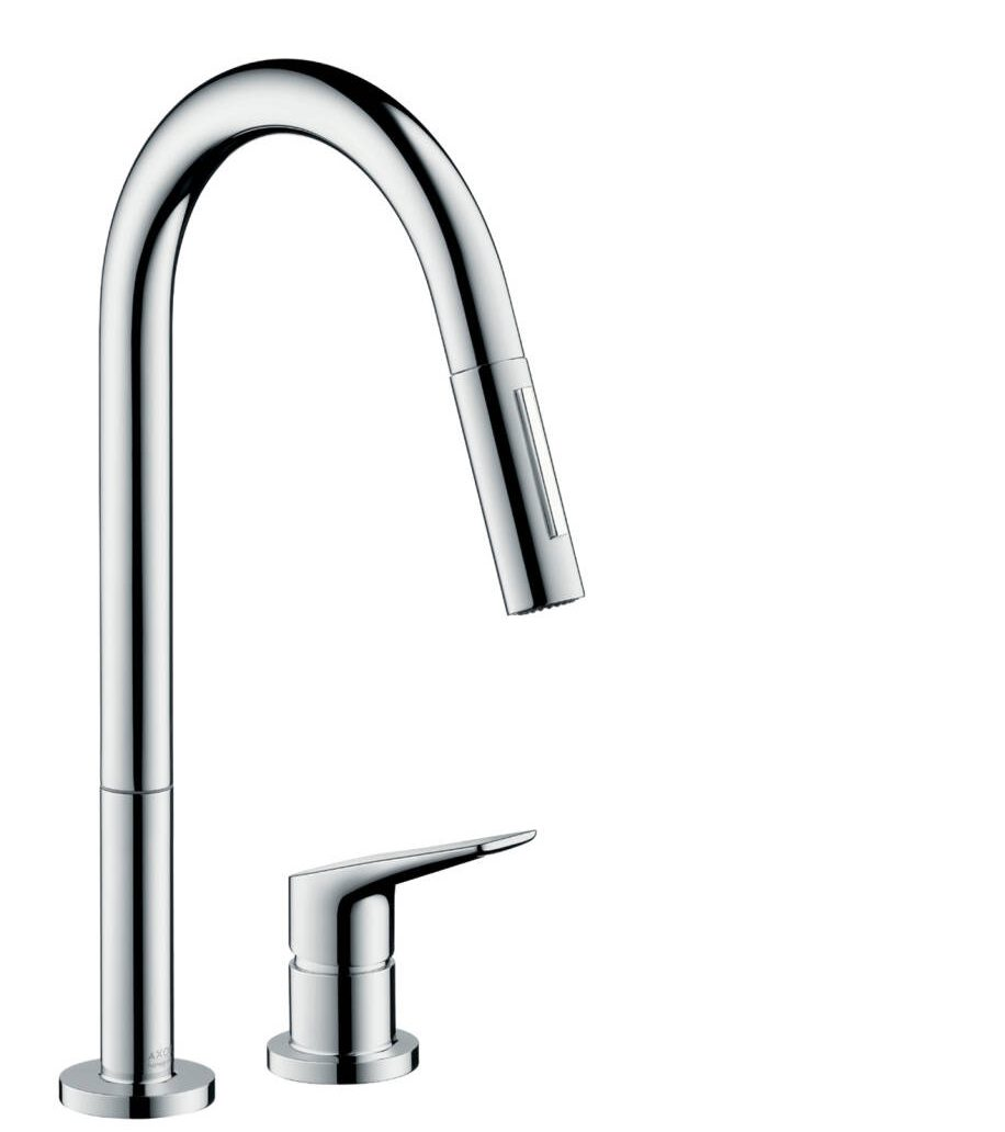 AXOR Citterio M 2-hole single lever kitchen mixer 220 with pull-out spray