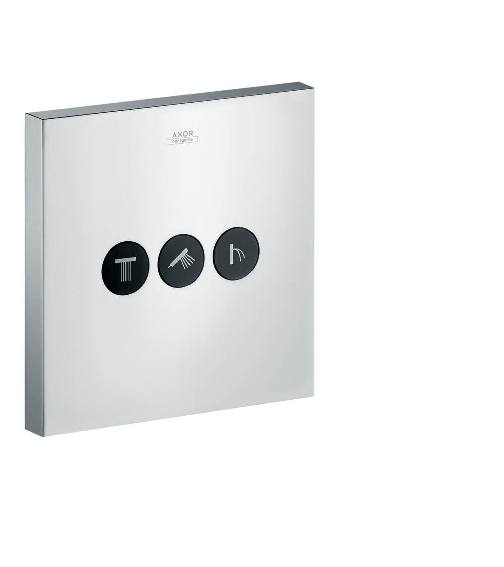 AXOR ShowerSelect Valve for concealed installation square for 3 functions