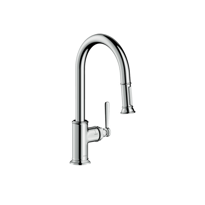 Axor Montreux Single-lever Kitchen Mixer 180 with Pull-out Spray – Chrome