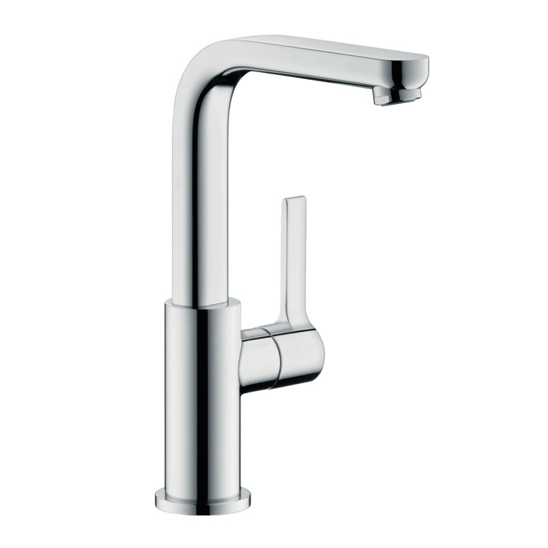 Hangrohe Metris S Single-lever Basin Mixer with Swivel Spout with Pop-up