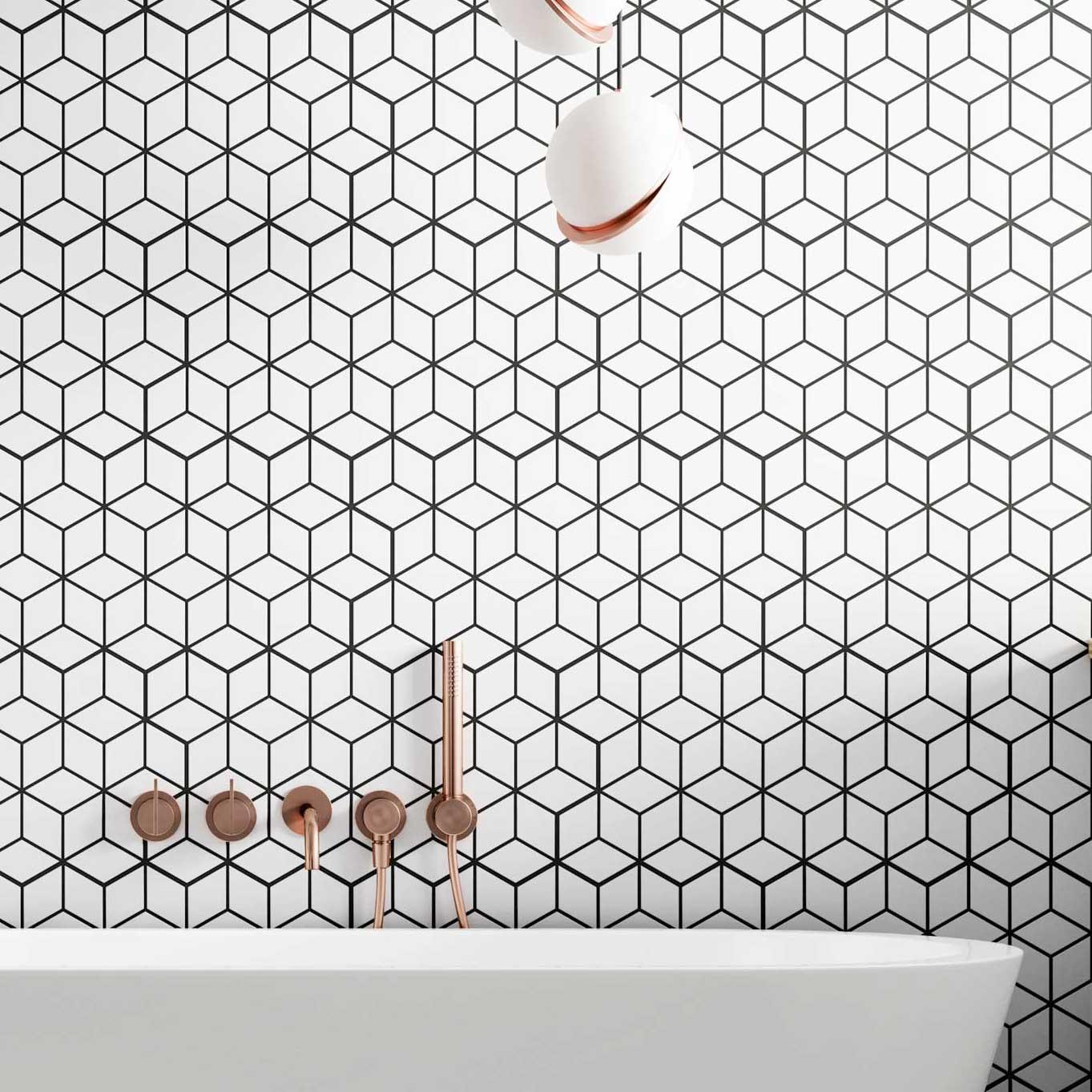 rhombus snow bathroom