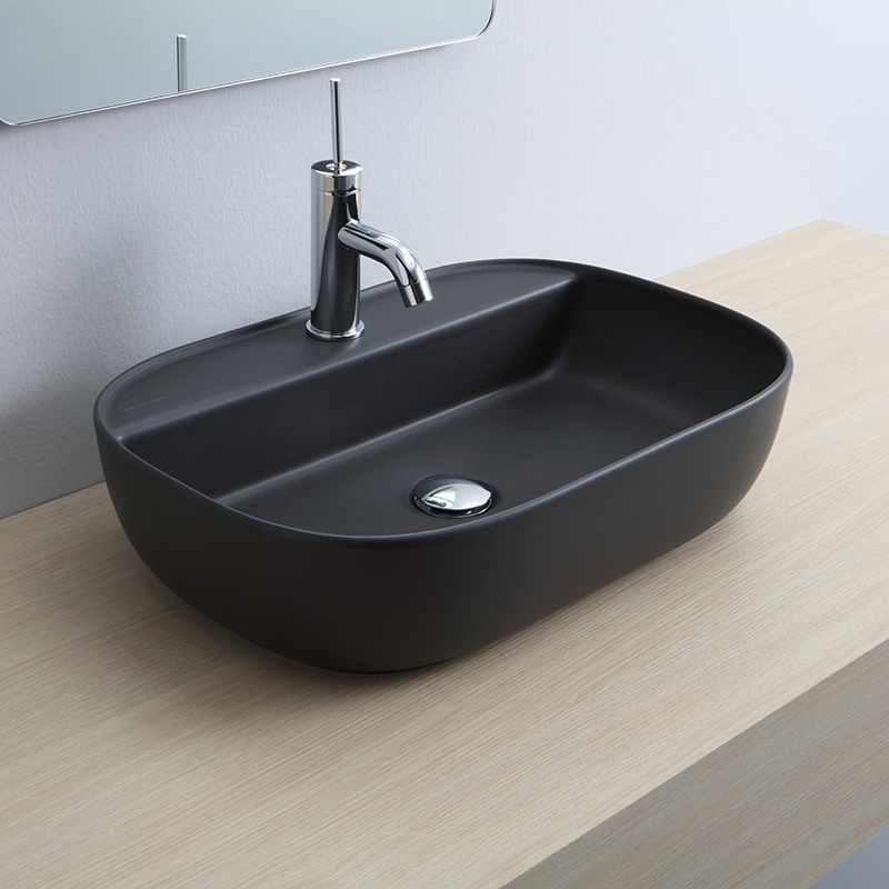 Glam 56R Above Counter Lavatory Black