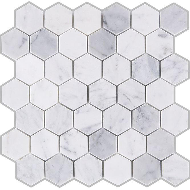 Allia Hexagon Carrara White Matt