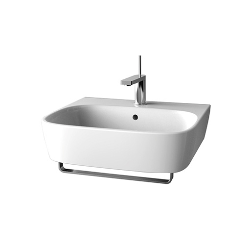 Kohler ModernLife Wall-hung Lavatory With Towel Bar And Single Faucet Hole