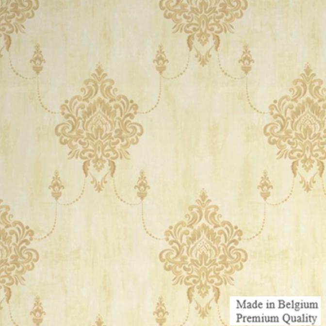 Flower Brown Solo GrandDeco Prestige Wallpaper