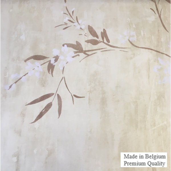 Flower Brown GrandDeco Prestige Wallpaper