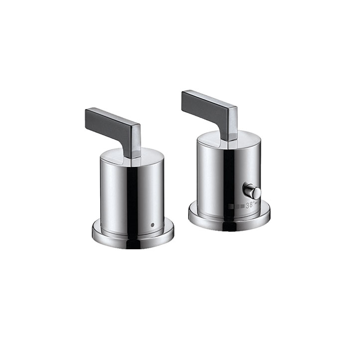 Axor Citterio 2-hole Rim Mounted Thermostatic Bath Mixer With Lever Handles