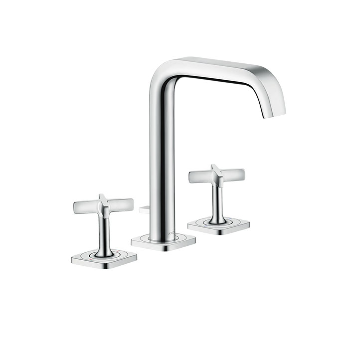 Axor Citterio 3-hole Basin Mixer 170 With Escutcheons And Pop-up Waste Set