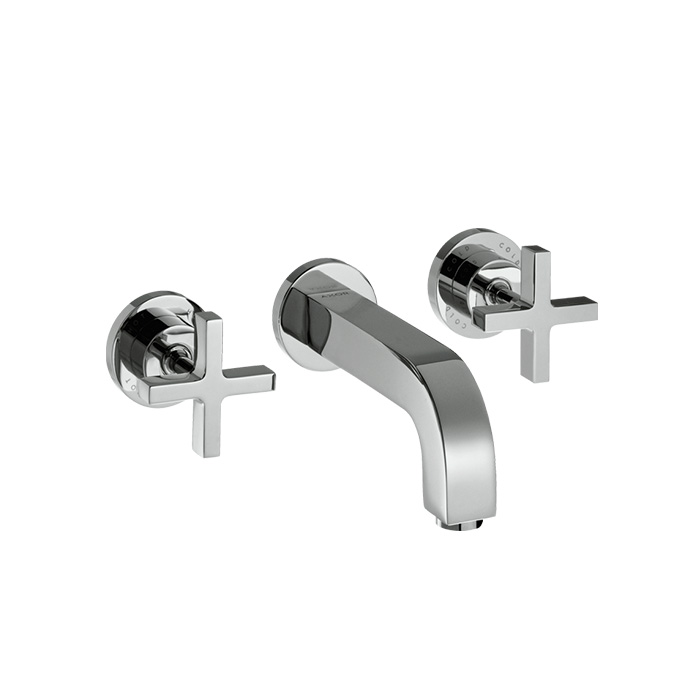 Axor Citterio 3-hole Basin Mixer With Spout 222mm Cross Handles And Escutcheons