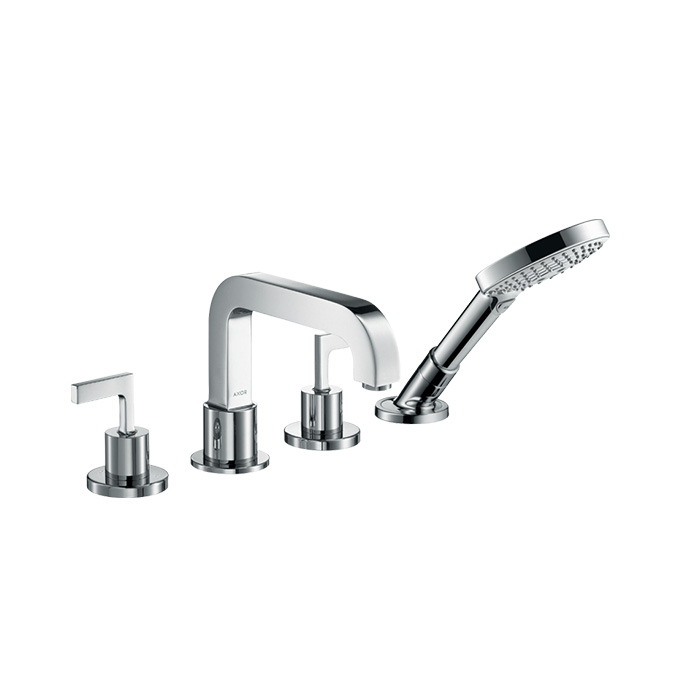 Axor Citterio 4-hole Tile Mounted Bath Mixer With Lever Handles And Escutcheons