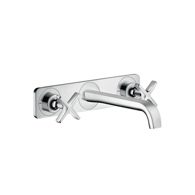 Axor Citterio E 3-hole Basin Mixer Wall-mounted With Spout 220mm And Plate