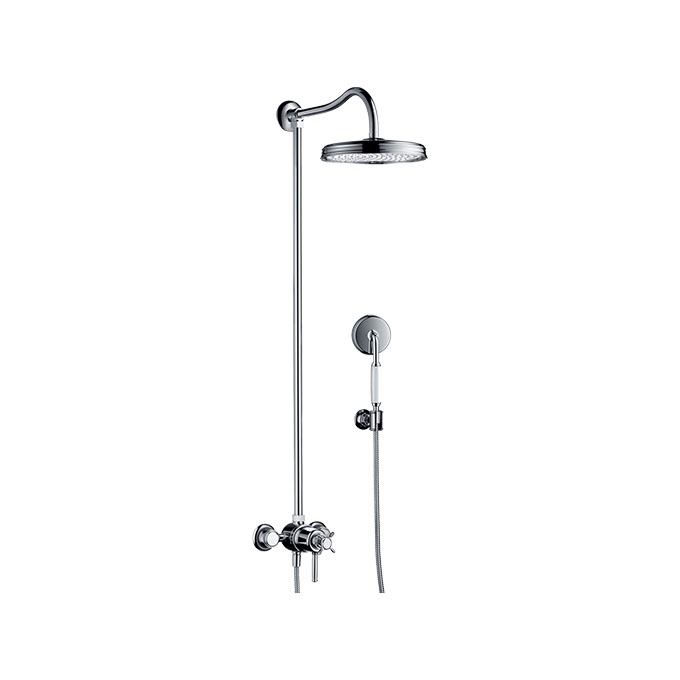 Axor Montreux Showerpipe With Thermostat And Overhead Shower 1jet – Chrome