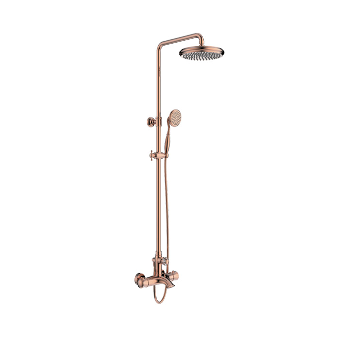 Cleo Phoenix Showerpipe Thermosttic Rain Shower Faucet