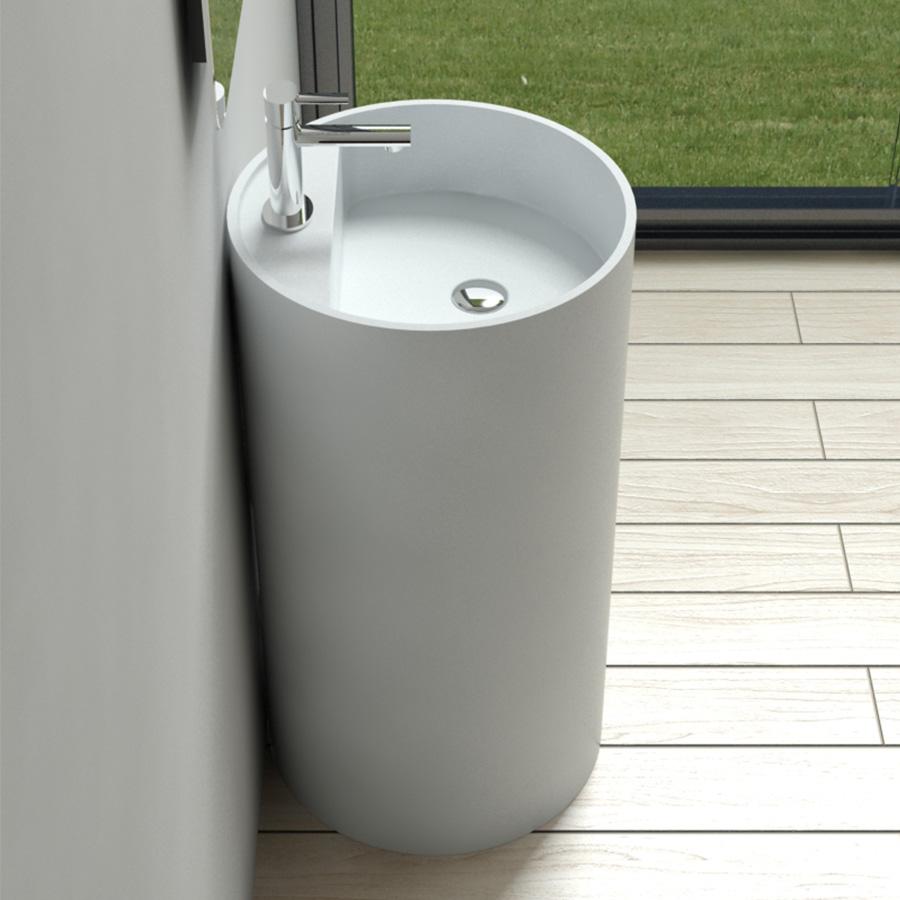 Freestanding Lavatory (Glossy White) Cleo Rochelle