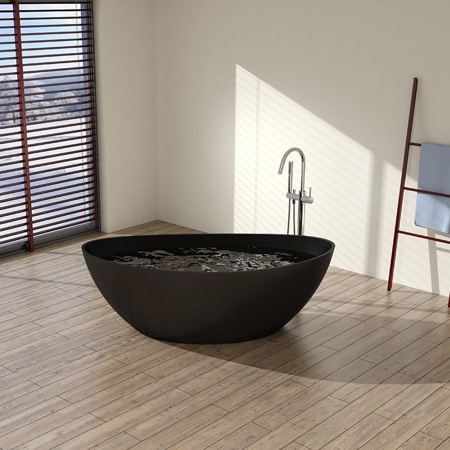Freestanding Bathtub (Matt Black) Cleo TP Freetown Oval