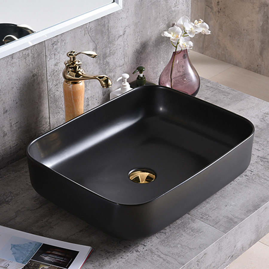 Cleo HC Granby Above Counter Lavatory – Matt Black